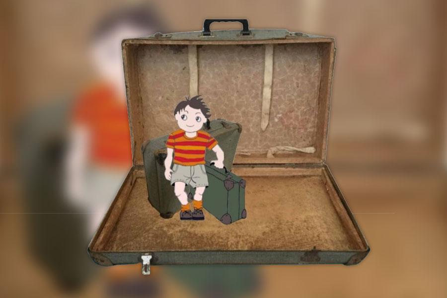 Petertje en zijn koffertje lespakket Van 't Lindenhoutmuseum